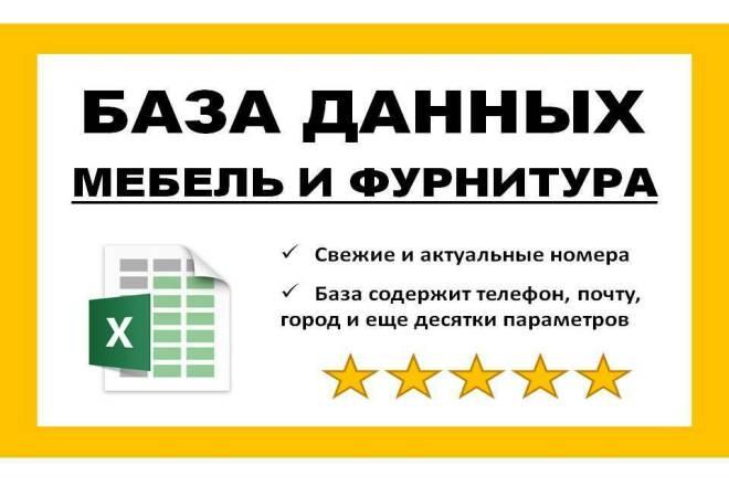 База данных мебель и фурнитура 1 - kwork.ru