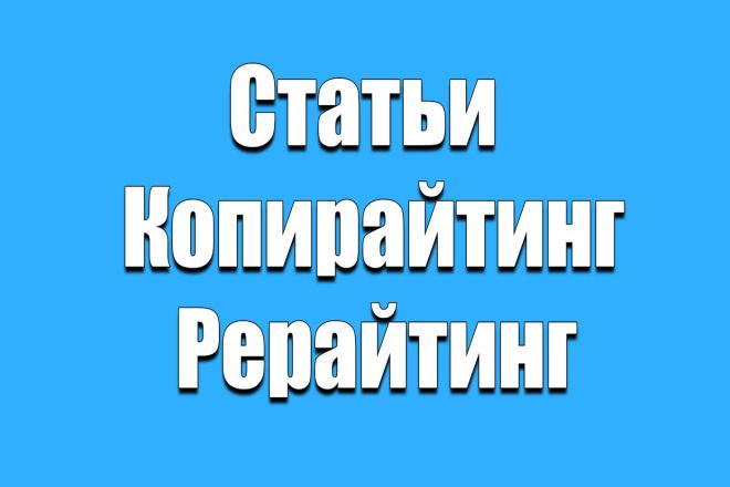 Напишу статьи на 3000 символов 1 - kwork.ru
