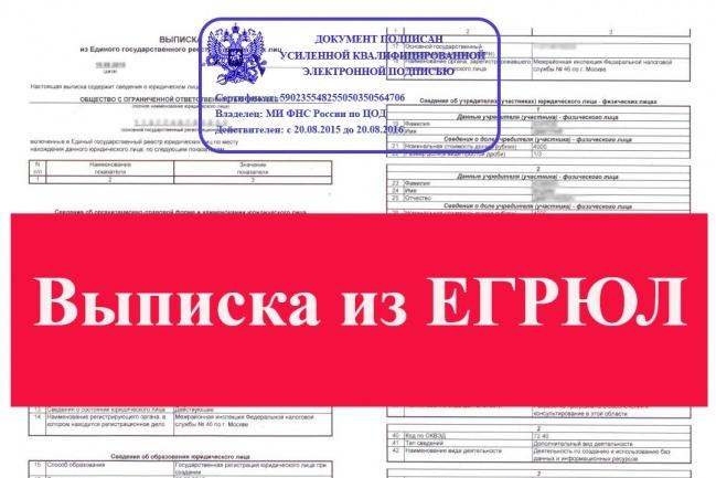 Выписка из ЕГРЮЛ с подписью ЭЦПЮридические консультации<br>Срочная выписка из ЕГРЮЛ и ЕГРИП, подписанная ФНС официальной подписью ЭЦП. Больше не нужно днями ждать получения выписки от налогового органа! Выписка из ЕГРЮЛ в электронной форме, которую я предлагаю (формат pdf с подписью ЭЦП) равнозначна выписке на бумажном носителе, подписанной собственноручной подписью должностного лица налогового органа и заверенной печатью налогового органа (пункты 1 и 3 статьи 6 Федерального закона от 6 апреля 2011 г. № 63-ФЗ «Об электронной подписи»).<br>