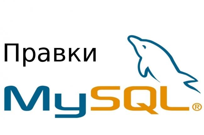 Внесу правки на сайт, в базу данных 1 - kwork.ru