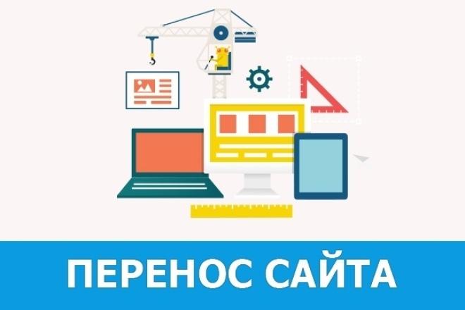Перенос сайта  на  хостинг 1 - kwork.ru