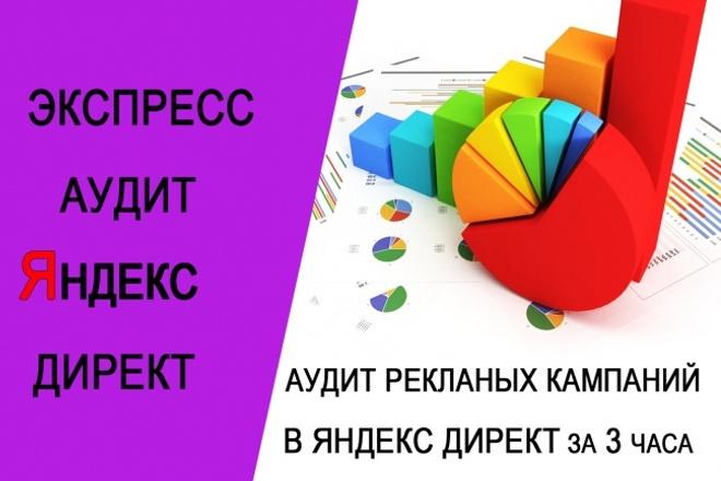 Аудит рекламных кампаний в Яндекс ДиректКонтекстная реклама<br>За 3-4 часа проведу глубокий аудит ваших рекламных кампаний в Яндекс директ В аудит входит проверка по более 50-ти пунктам В результате аудита Вы получите : 1. Презентацию с указанием замечаний и недочетов 2. Развернутые предложения по их исправлению и оптимизации рекламной кампании в целом. В презентации распишу и покажу на скриншотах ошибки и что нужно исправить. У вас будет прописан чек-лист для улучшения рекламных кампаний. Если Вы настраиваете рекламу самостоятельно, то руководствуясь презентацией сможете легко исправить недочеты и настроить кампании, с учетом последних изменений в Яндекс Директе! Нужна будет помощь в исправлении - пишите мне. Помогу оптимизировать рекламный бюджет. Обращайтесь!<br>