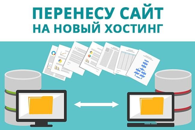 Перенесу сайт на другой хостинг + бонус 1 - kwork.ru