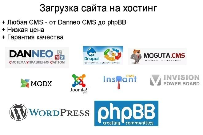 Загружу сайт на хостинг 1 - kwork.ru