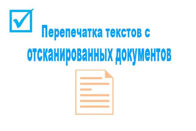 Перепечатка текстов с отсканированных документов 1 - kwork.ru
