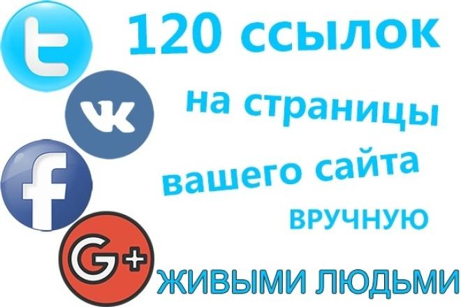120 ссылок на ваш сайт из ВК FB TW G+. Только живыми людьми и вручнуюПродвижение в социальных сетях<br>? Уважаемые друзья! Обеспечу 120 ссылок на страницу вашего сайта. 120 пользователей с ВКонтакте, FaсеBook, Twitter, Google+ (не боты, только реальные пользователи) сделают репост (share, поделиться, рассказать друзьям) на выбранном вами посте. Обратите внимание . Под ссылками подразумевается, что пользователь зайдет скопирует URL, который вы укажите в задании, к себе на страницу соответствующей социальной сети. Сроки исполнения данного заказа - от 1 до 3 дней, но процесс можно ускорить за счет доп. опции Источник ссылок : аккаунты пользователей Запрещенные тематики: Алкоголь. Эротика 18 +и все в этом духе. Любые программы и сервисы для накрутки. Добавь меня в друзья. Азарт (казино, ставки и все в этом роде)<br>