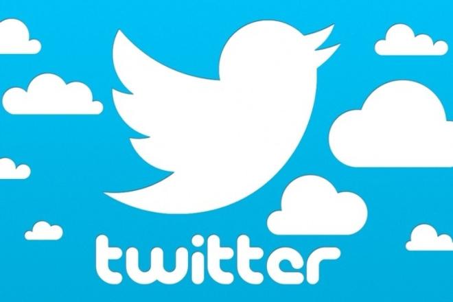 6000+ подписчиков в TwitterПродвижение в социальных сетях<br>Сеть микроблогов Twitter очень популярна. Аудитория сервиса превышает 284 млн человек в месяц и количество пользователей неуклонно растет. Каждый пользователь Twitter хочет иметь максимальное количество подписчиков. Поэтому заказывая этот кворк у нас, вы получаете быстрое продвижение своего аккаунта за небольшую плату. Возможные отписки до 30%, но я всегда добавляю больше подписчиков.<br>