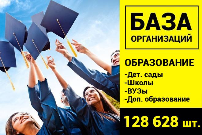 База Образования РФ - 128628 шт. организаций 1 - kwork.ru