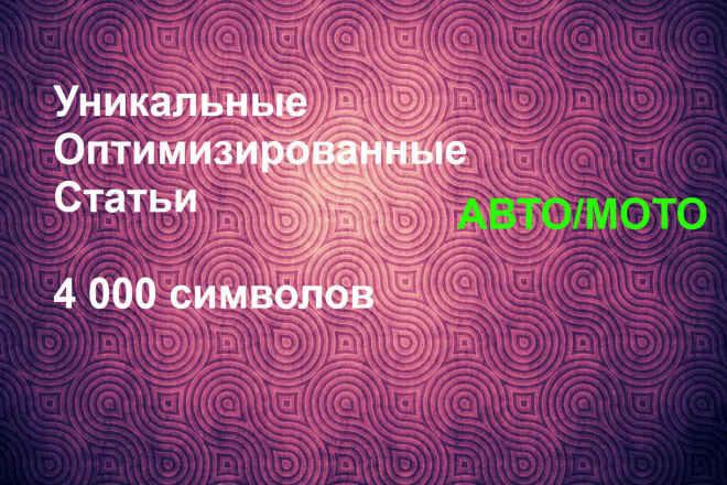 Уникальная статья 4000 символов 1 - kwork.ru