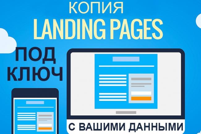 Скопирую Landing Page с заменой контакной информации и обратной связи 1 - kwork.ru