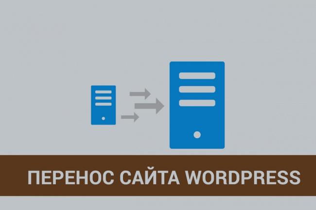 Быстрый перенос сайта на WordPress 1 - kwork.ru