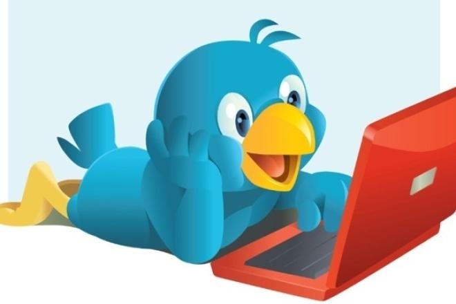 Сделаю 400 фолловеров в ТвиттереПродвижение в социальных сетях<br>Добрый день всем! В рамках этого Кворка я сделаю Вам 400 фолловеров (подписчиков) в Твиттере. Подписчики - живые люди, не боты. Процент отписки - не больше 10%<br>