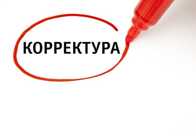 Корректура и исправление различных ошибок 1 - kwork.ru