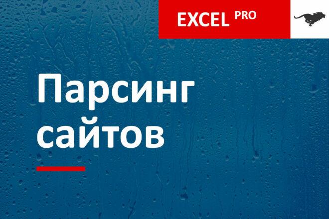 Профессиональный парсинг товаров с сайтов в Excel. Сложные случаи 1 - kwork.ru