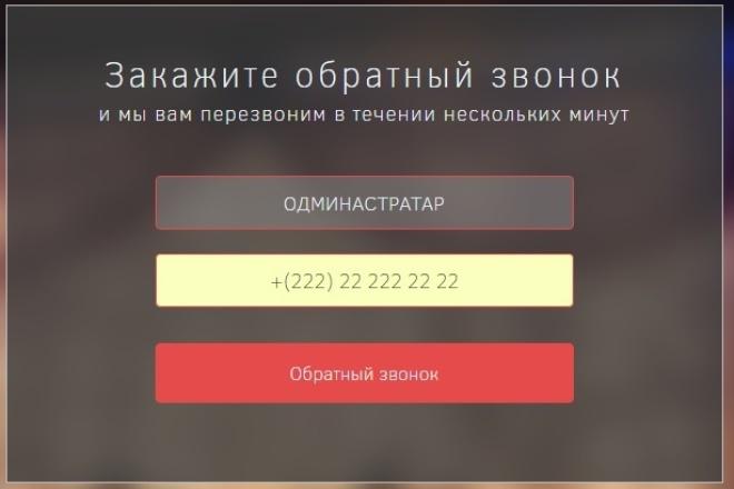 Формы обратной связи на PHP, JS 1 - kwork.ru