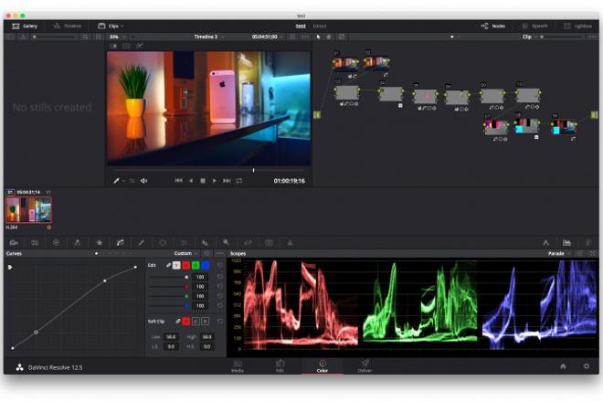 Монтаж и цветокоррекция-грейдинг видео в DaVinci Resolve Studio 1 - kwork.ru