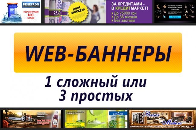Сверстаю web-баннерыБаннеры и иконки<br>Нарисую баннеры для сайтов/соцсетей. В растре/векторе - на ваше усмотрение. Исходники при необходимости могу отдать. Стараюсь выполнять в тот же день. От вас нужна информацию о желаемом результате или пример нужного стиля, также логотипы, картинки если есть. P.S. под простым макетом понимаю работу с готовым текстом, конкретными цветами и изображениями.<br>