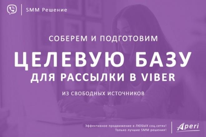 Соберем и подготовим Целевую базу для рассылки в viber 1 - kwork.ru