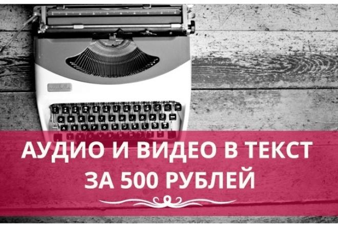 Сделаю качественный текст из Ваших аудио и видео файлов рус, англ 1 - kwork.ru