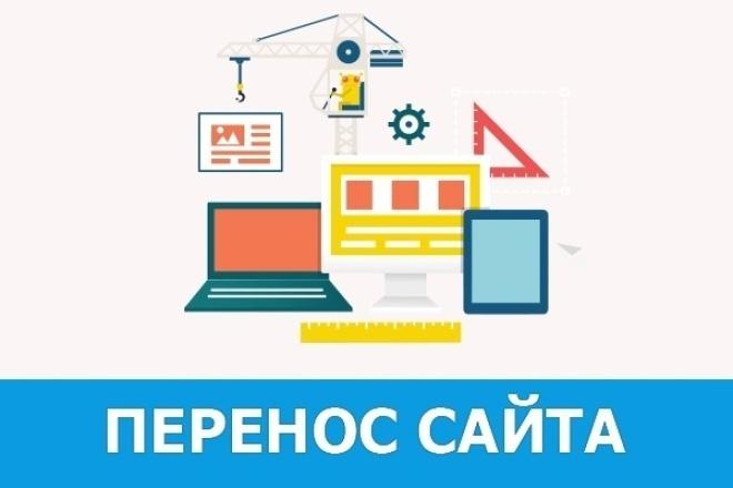 Перенесу сайт на новый хостинг 1 - kwork.ru