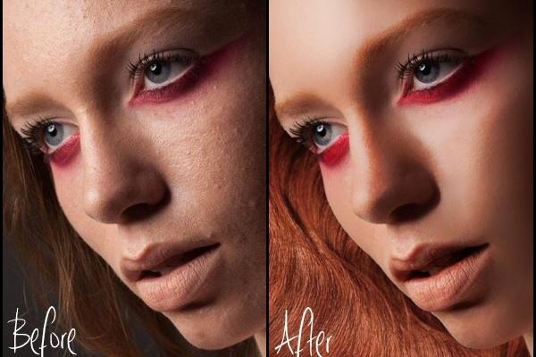Ретушь и цветокоррекция 5 фотографийОбработка изображений<br>- техническая чистка фотографий - коррекция цвета - коррекция форм, света, объемов - начальная обработка изображений (баланс белого, горизонт, хроматические аберрации и т. п. ) - глубокая ретушь кожи и волос (частотное разложение, dodge &amp;amp; burn, отрисовка, замена текстуры) - правка скинтона - базовое коллажирование - обтравка - тонирование - ретушь под стиль (тон, цвет, свет) - стилизация фильтрами (чб, HDR, glamour glow и пр. )<br>