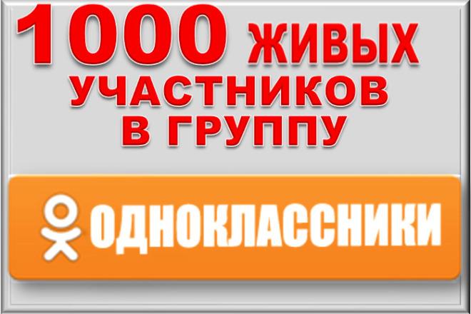 1000 живых участников в группу Одноклассники. Офферы 1 - kwork.ru