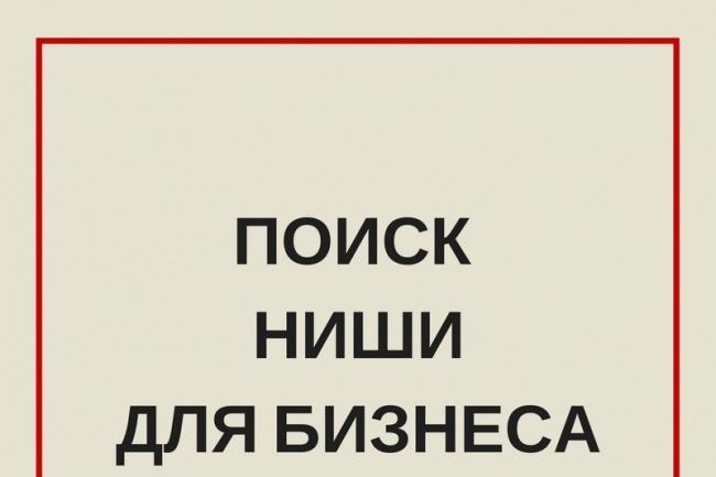 Поиск ниши для бизнеса 1 - kwork.ru