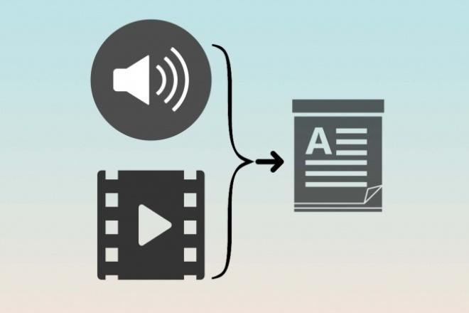 Транскрибация аудио или видео в текстНабор текста<br>Напечатаю текст с вашего аудио либо же видео. Печатаю только с русского языка. Быстро перепечатаю аудио в текст.<br>