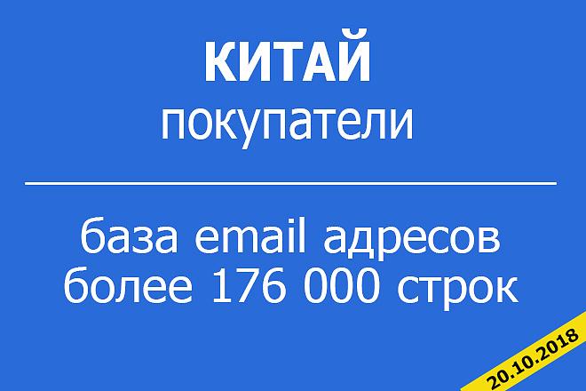 База Email 176к покупателей в Китае 1 - kwork.ru