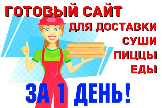 Готовый сайт для доставки пиццы, суши, вок, пирогов 1 - kwork.ru