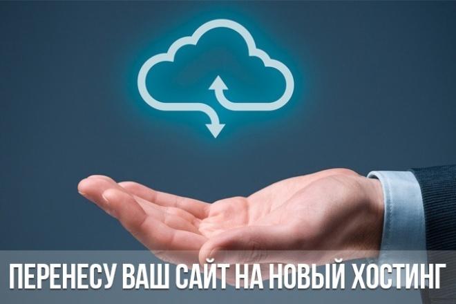 Перенесу Ваш сайт на новый хостингДомены и хостинги<br>Перенесу сайт: - из архива (backup) на хостинг; - с хостинга на новый хостинг (переезд); - с localhost. Бесплатно: - Помогу с выбором быстрого и качественного хостинга; - Настрою домен под новый хостинг; - Подберу недорогого регистратора доменных имен.<br>