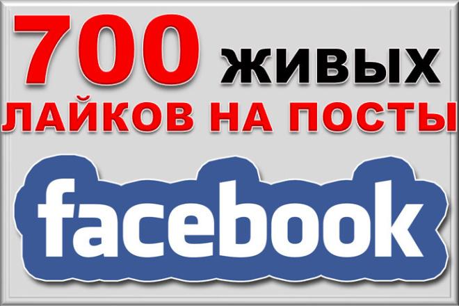 700 живых лайков на посты в facebook 1 - kwork.ru