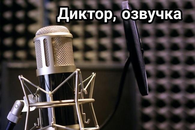 Диктор, озвучу любые видео или аудио 1 - kwork.ru