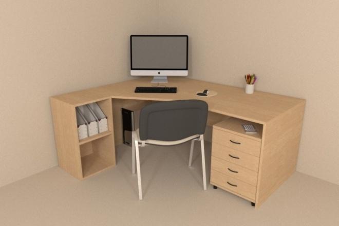 Создам и визуализирую 3D модель 1 - kwork.ru