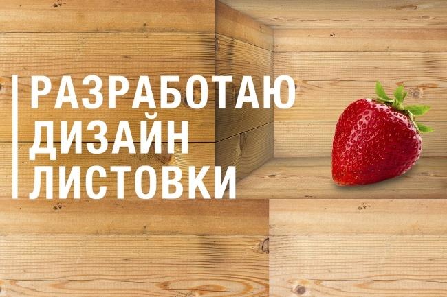 Разработаю дизайн листовки 1 - kwork.ru