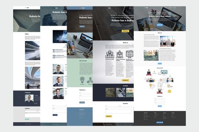 Веб-дизайн лендинга 1 - kwork.ru