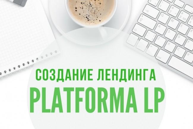 Создание 1 лендинга на Платформа LP 1 - kwork.ru