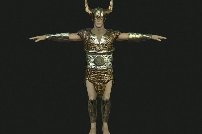 3D Модель персонажа для игр и рендеринга 1 - kwork.ru
