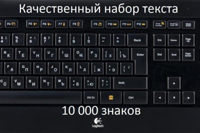 Напечатаю 10000 знаков 1 - kwork.ru