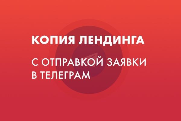 Сделаю копию лендинга, настрою отправку заявок на Telegram 1 - kwork.ru