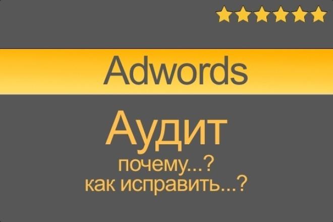 Аудит Google Adwords контекстной рекламы 1 - kwork.ru