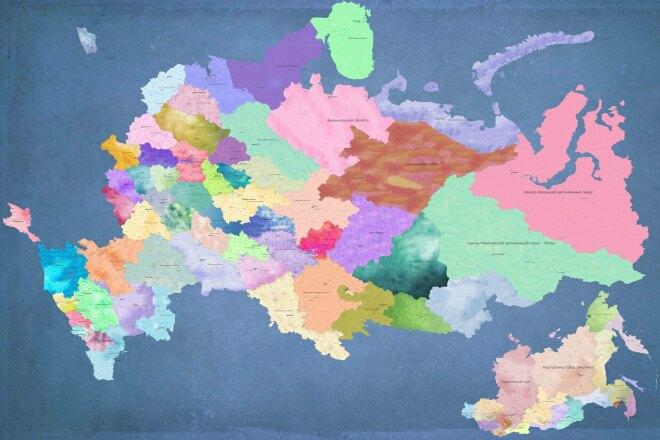 Сделаю карту РФ в произвольном формате 1 - kwork.ru