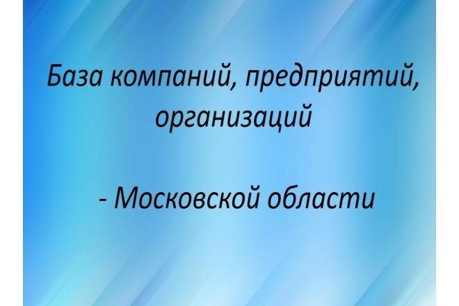 База компаний, предприятий, организаций Московской области 1 - kwork.ru