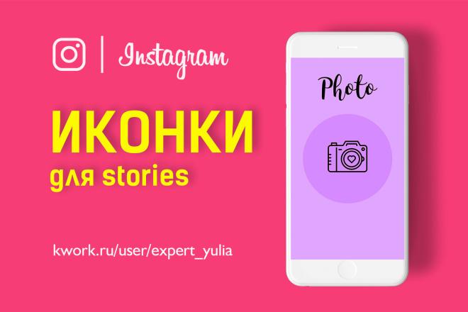Иконки-Обложки для актуальных сторис в Инстаграм 1 - kwork.ru