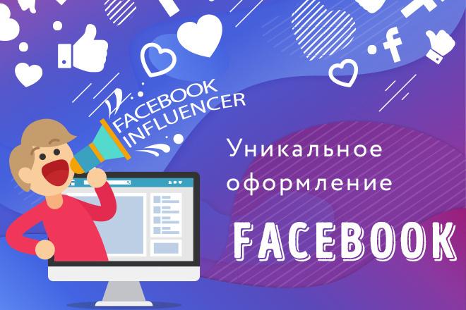 Оформление группы в соц сети Facebook 1 - kwork.ru