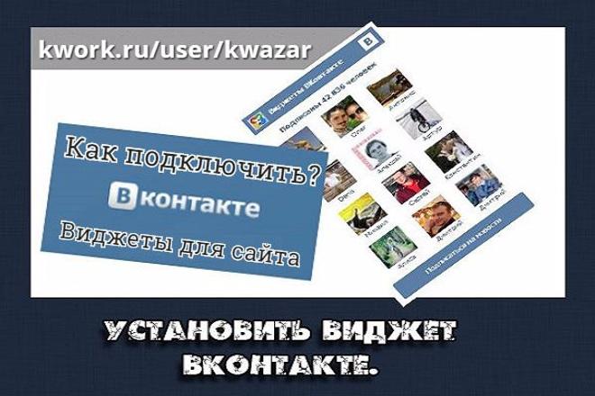 Подключу виджеты Вконтакте для вашего сайта 1 - kwork.ru