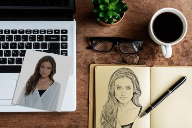 Создам портрет по фото в графическом стиле 1 - kwork.ru