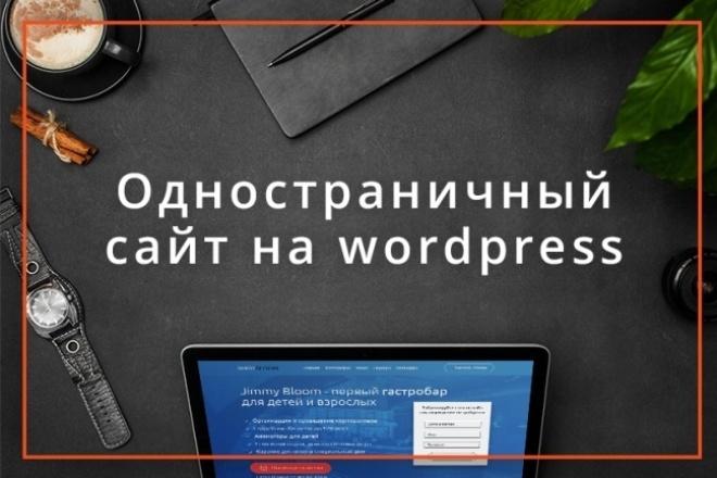 Одностраничный сайт под ключ на wordpress 1 - kwork.ru