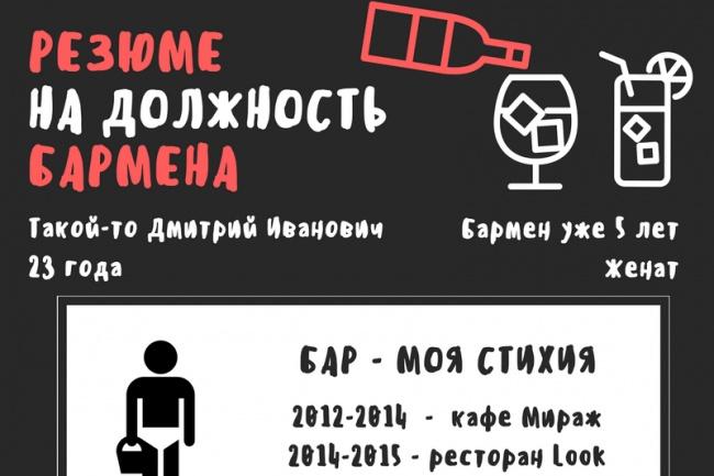 Сделаю красивое резюме для вас 1 - kwork.ru