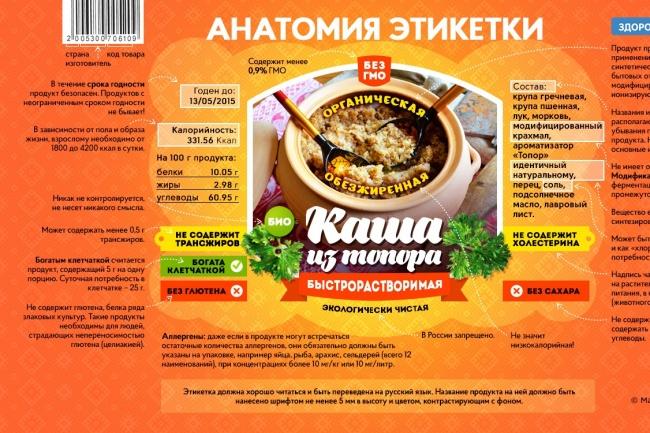 Макет этикетки 1 - kwork.ru
